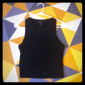 Forever 21 black crop tank top size S